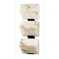 BLOCK 185 triple wall sconce by Pierre Chareau