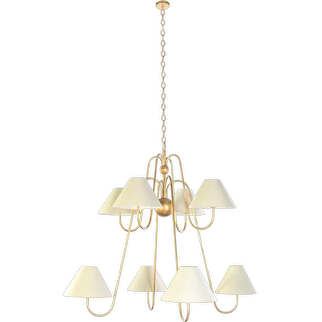 BOUQUET chandelier 8 lights by Jean Royere