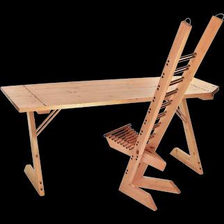 """""""Destruction"""" Desk & Chair, ca. 1992"""