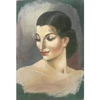 Portrait of an elegant lady - 1920's