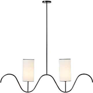 SERPENTIN chandelier / Jean Royère re-editions