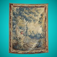 Aubusson tapestry with original borders, French circa 1760