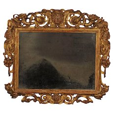 Carved giltwood Sansovino frame (now a mirror) Italy, 17th century