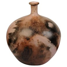 Studio Ceramic glazed bottle vase, circa 1990, Gabrielle Koch
