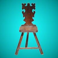 Two walnut sgabelli (back stools), North Italy, mid 17th century