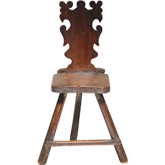 Two walnut sgabelli (back stools), North Italy, mid 17th century