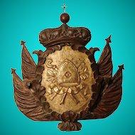 Large Baroque armorial carving, Italian, circa 1700