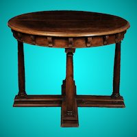 Italian Walnut Centre Table, 16th Century