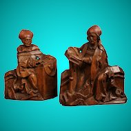 Two Limewood carvings of Bishops, German, 16th century