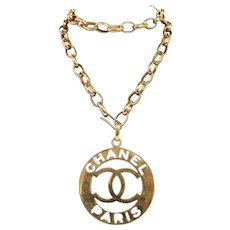 Chanel CC Medallion Chain Necklace 1990's