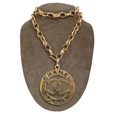 Chanel Royal Seal Medallion Chain Necklace