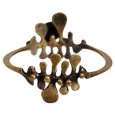 Vintage Jack Boyd 1970's Bronze Double Spore Bracelet