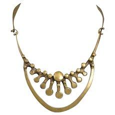Vintage Jack Boyd 1970's Bronze Spore Necklace