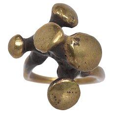 Vintage Jack Boyd 1970's Bronze Brutalist Ring