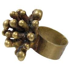 Vintage Pal Kepenyes 1970's Bronze Starburst Ring