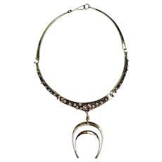 Jack Boyd 1970's Handmade Brutalist Bronze Modernist Necklace