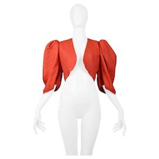 Vintage Yves Saint Laurent 1980's Red Bolero