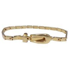 1970's Gucci Designer Antonio Fallaci Buckle Bracelet