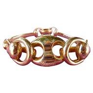 Vintage 18K Gold Gucci Signature Horse Bit Bracelet 1.8 DWT