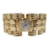Retro 14k Gold & Diamond Watch Bracelet 42.6 DWT