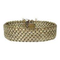 Retro Brev 14k Gold Mesh Bracelet