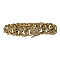 Retro 14k Gold Cuban Link Bracelet 16.8 dwt