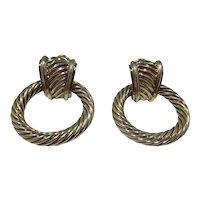 14k Gold David Yurman Door Knocker Earrings