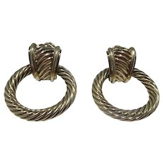 14k Gold David Yurman Door Knocker Earrings