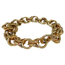 Retro 14k Gold Sweetheart Charm Bracelet Without Charms 43.6 dwt