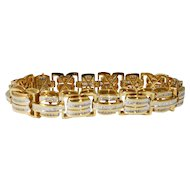 14k Gold and Diamond Men's Bracelet