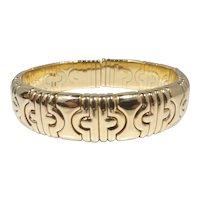 Bvlgari 18k Gold Parentesi Bracelet
