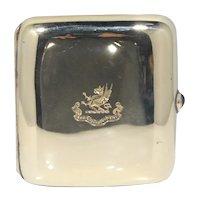 14k Gold Black, Starr & Frost Cigarette Case With Sapphire Cabochon