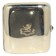14k Gold Black, Starr & Frost Cigarette Case With Sapphire Cabochon