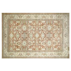 "1980s Egyptian Sultanabad Carpet - 13'1"" x 19'4"""