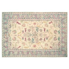 "1920s Turkish Oushak Carpet - 10'8"" x 15'6"""