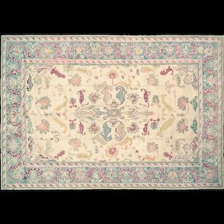 "1920s Turkish Oushak Carpet - 10'8"" x 15'6"""