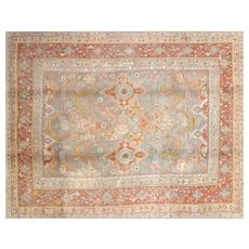 "1920s Turkish Oushak Carpet - 10'6"" x 13'"