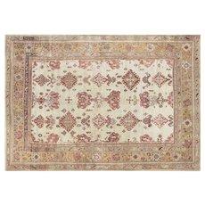 "1920's Turkish Oushak Carpet - 10' x 14'2"""