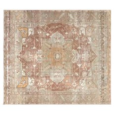 "1930s Turkish Oushak Carpet - 9'9"" x 11'"