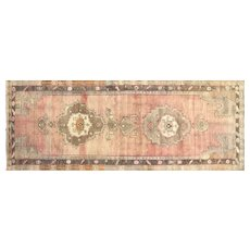 "1960s Turkish Oushak Carpet - 6'1"" x 15'7"""