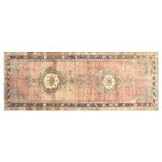"1960s Turkish Oushak Carpet - 6'1"" x 15'7"""