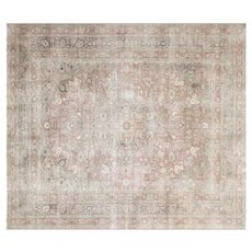 "1940s Turkish Oushak Carpet - 10'1"" x 11'8"""