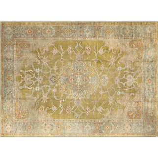 "1920s Turkish Oushak Carpet - 10'6"" x 14'"