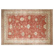 "Contemporary Turkish Oushak Carpet - 10'1"" x 15'"
