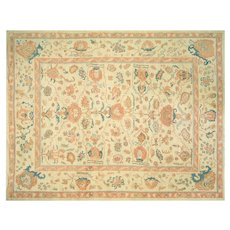 "Contemporary Turkish Oushak Carpet - 10'8"" x 13'10"""