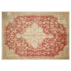 "1920s Turkish Oushak Carpet - 9'1"" x 12'9"""