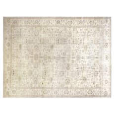 """1980s Egyptian Sultanabad Carpet - 10'6"""" x 13'7"""""""