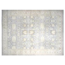 """1980s Egyptian Sultanabad Carpet - 13'7"""" x 18'2"""""""