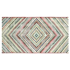 1960s Turkish Art Deco Rug - 5' x 9'5""