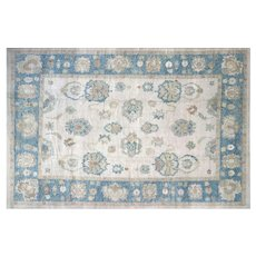 "Contemporary Turkish Oushak Carpet - 13'7"" x 20'"